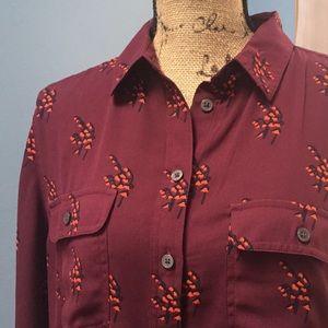 Loft blouse in beautiful wine color